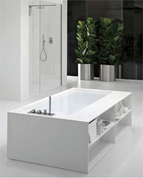 20 White Bathroom Appliances With Patterns And Textures