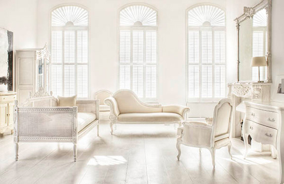 White-Beige Interior Design with French Furniture