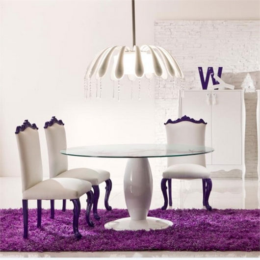White Dining Room With Color Pop