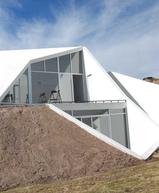 White House In The Mountain Slope In Chihuahua