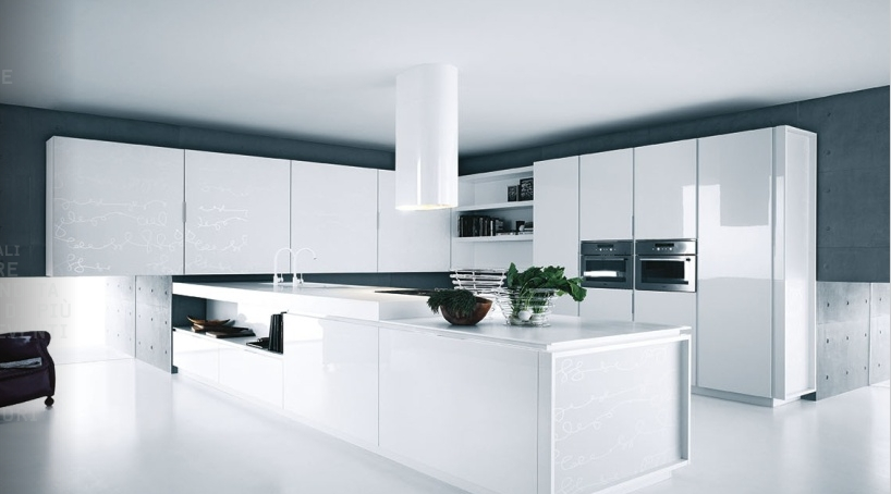 Interior White Kitchen Accessories modern pure white kitchen cabinets and accessories yara from caesar