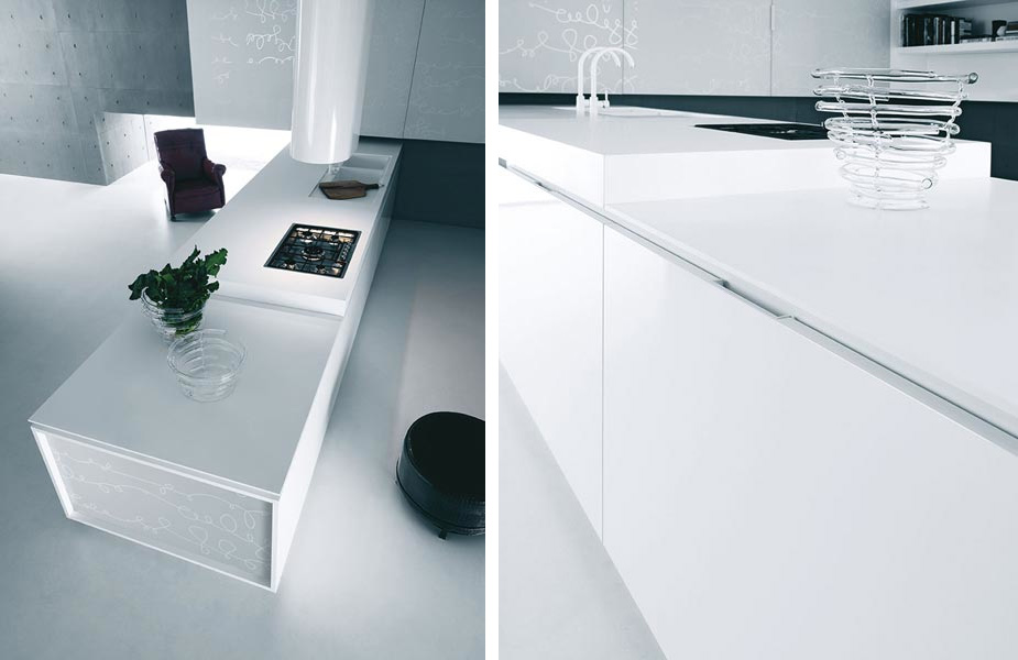 White Kitchen Accessories modern pure white kitchen cabinets and accessories - yara from