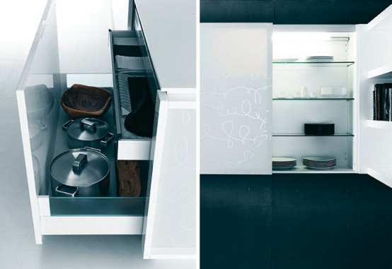 Modern Pure White Kitchen Cabinets and Accessories – Yara from Caesar