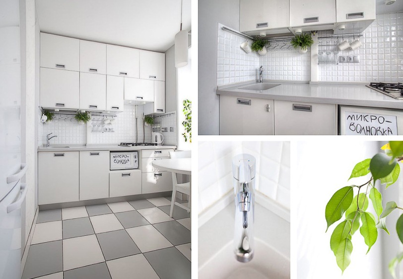 Cute White Kitchen Design With Smart Storage Solutions