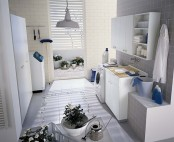 White Laundry Room Design