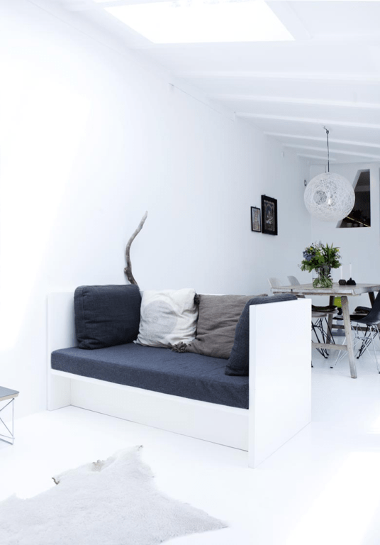 White Minimalist House With Indian Accessories
