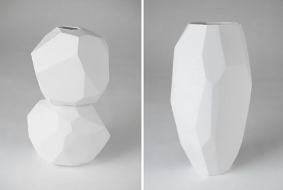 White Minimalist Vases Of Sculptural Shapes Digsdigs