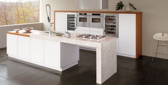 White oak wood kitchen