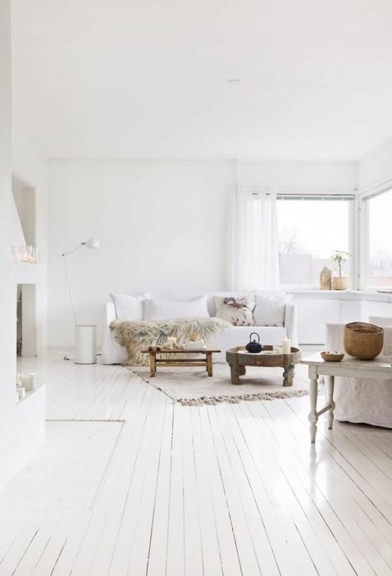 Awesome White On White Home Decor Ideas