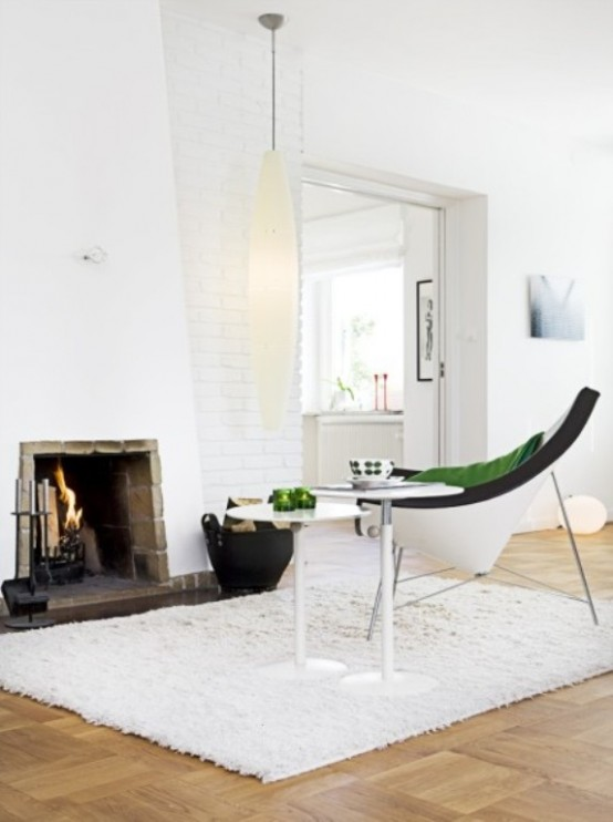 White Scandinavian House In The 50s Style