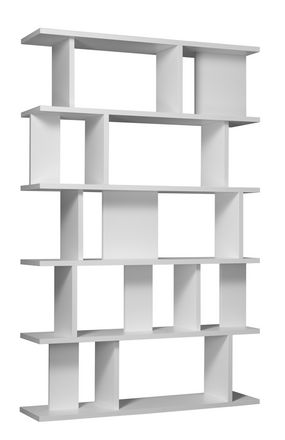 White Fiberboard Shelf System – Arie from e15