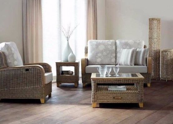 Wicker Furniture In The Interiors Cool Ideas