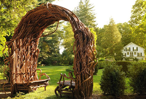 Unique Wicker Furniture Made Of Twigs
