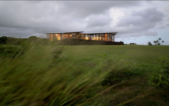 Wind Protected House With Large Glazings