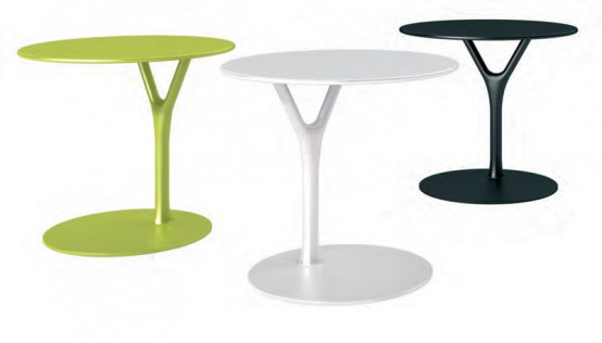Multipurpose Side Table Made Of Powder Coated Steel – Wishbone Table by Buck and Hertzog