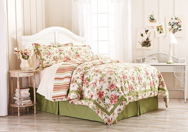 44 wonderful spring inspired bedroom decorating ideas digsdigs - Spring bedding makeover ideas ...