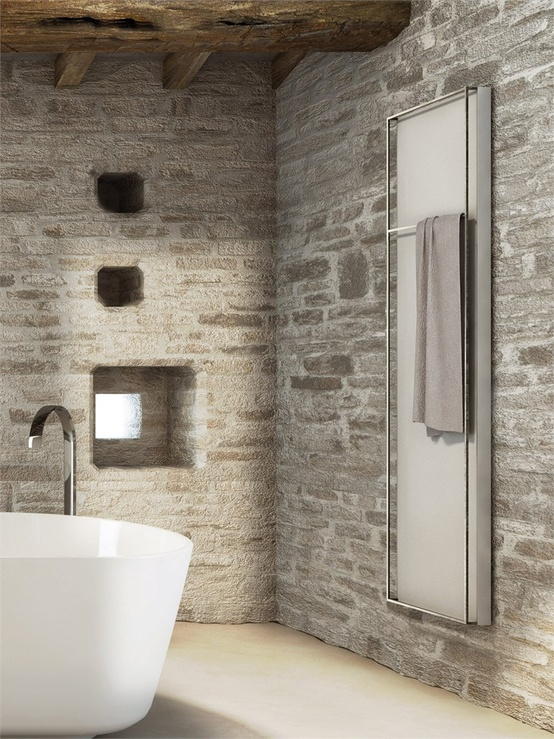 Idee Bagno Moderno Muratura : Wonderful stone bathroom designs digsdigs