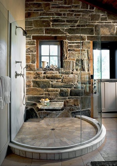Natural Stone Bathroom Design Ideas ~ Wonderful stone bathroom designs digsdigs