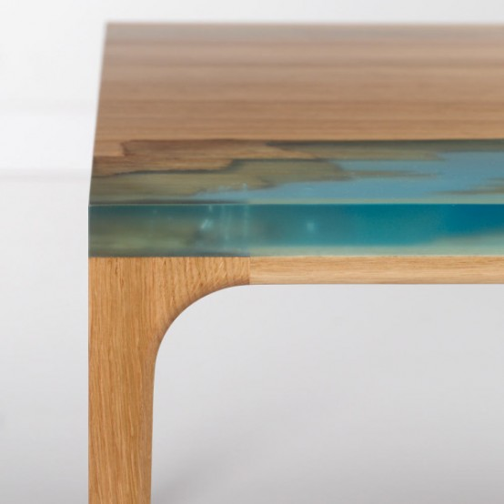 Wood And Resin Furniture Inspired By Self Healing Trees