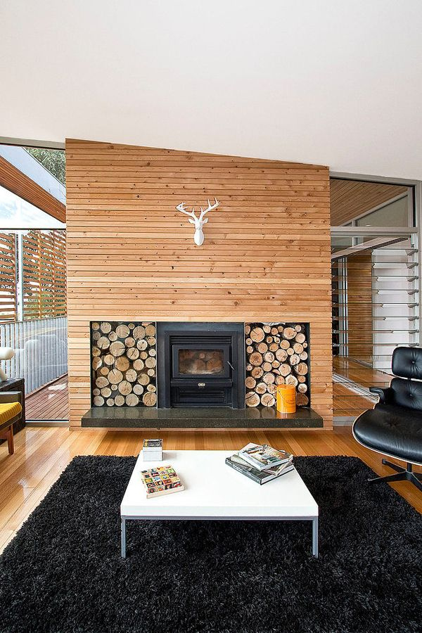 Picture of wood clad interior ideas to warm up in the winter 20 - Artistic wood clad design for warm essence in your house ...