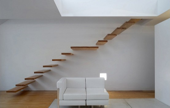 Wood Floating Staircase