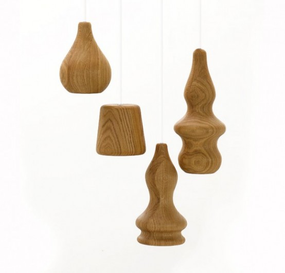 Unusual Wood Pendant Lamps
