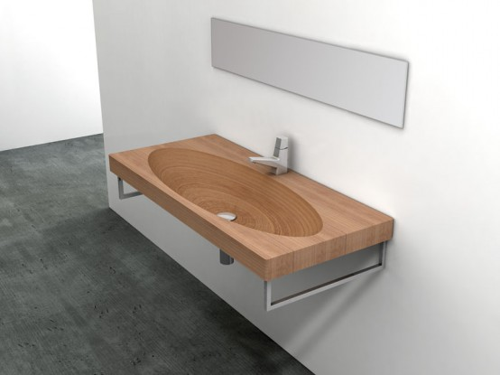 Natural Wood Sink – Stan by Plavisdesign