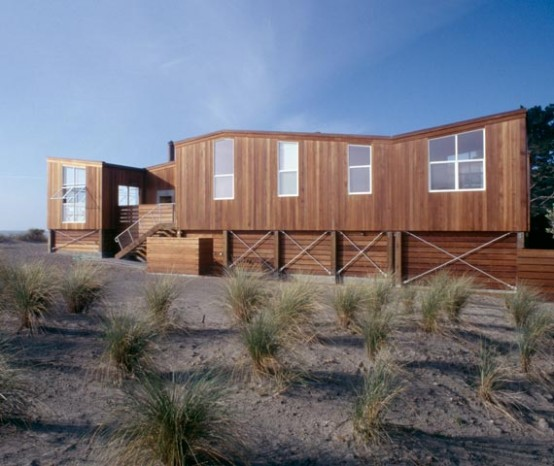 Wooden Beach House