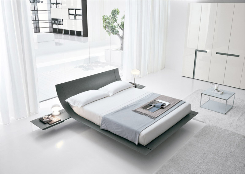 Wooden beds with cool headboards from presotto digsdigs for Bed minimalist design