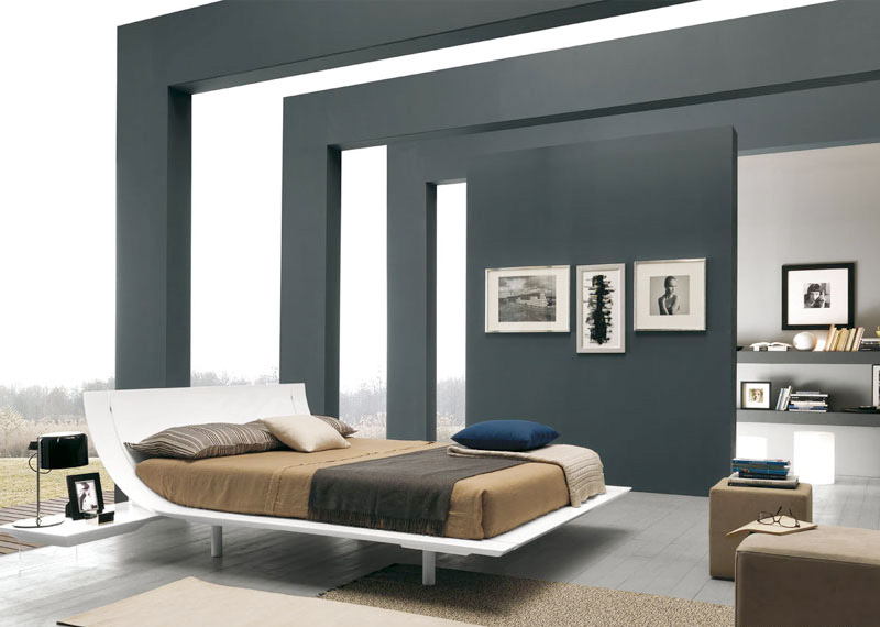 wooden beds with cool headboards from presotto - digsdigs