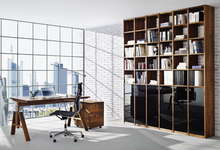 Wooden desks and secreters for home office from team 7 digsdigs Home office designer furniture
