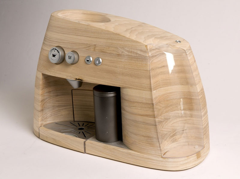 Stylish Wooden Espresso Maker