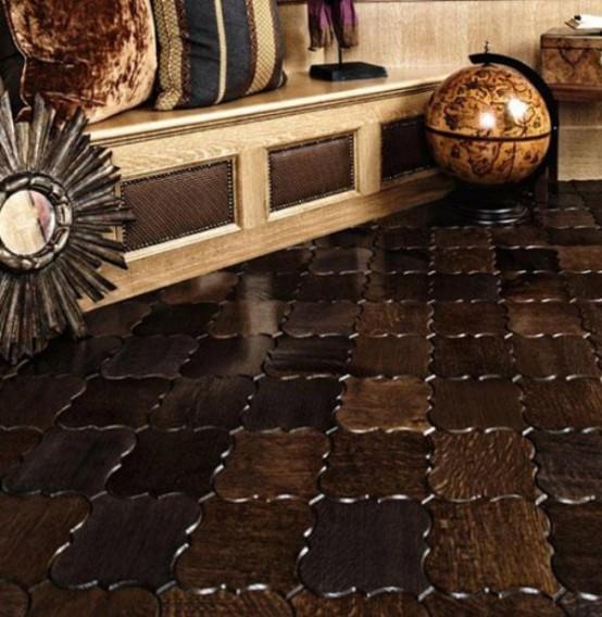 Wooden Floor Tiles Parquet And Tiles In One Digsdigs