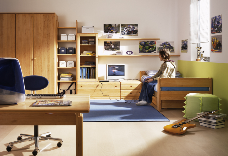 Creative Teen Bedroom Design: Wooden Furniture For Kids And Teens Rooms From Team 7