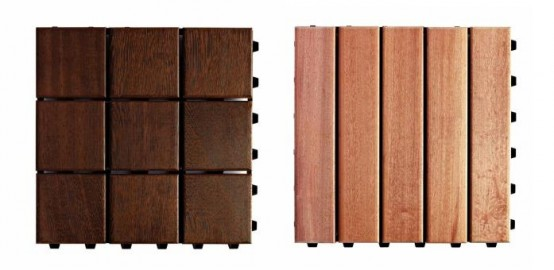 Wooden Modular Flooring For Outdoors
