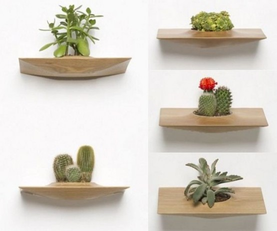 Wooden Pots For Placing On The Walls