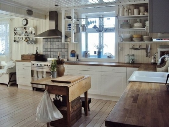 Wooden Vintage Kitchen Island Designs