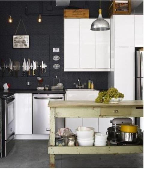 Wooden Vintage Kitchen Island Designs