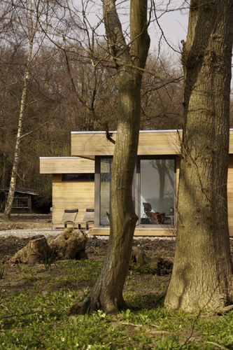 wooden weekend retreat house