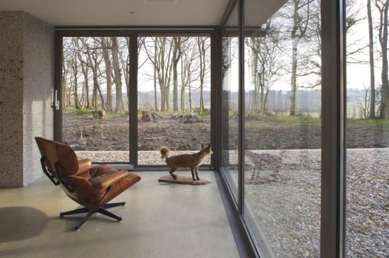 wooden weekend retreat lounge