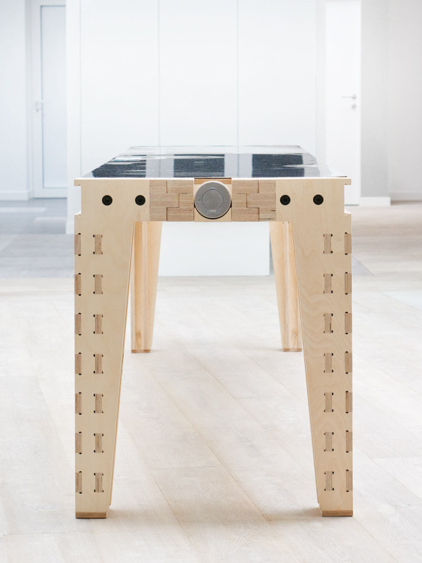 Picture Of work and turn multipurpose table with a reversible top  7