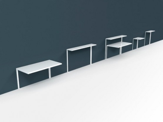 Working Desk And Shelving System For Tight Spaces