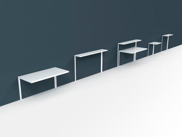 Really Practical Working Desk And Shelving System For Tight Spaces