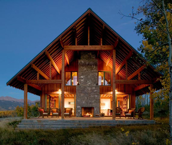 country house exterior Archives   DigsDigsWorking Ranch Designed in Natural Style