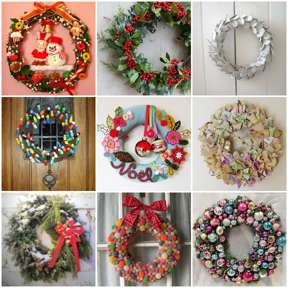 33 holiday wreaths door decor ideas digsdigs for Door garland christmas