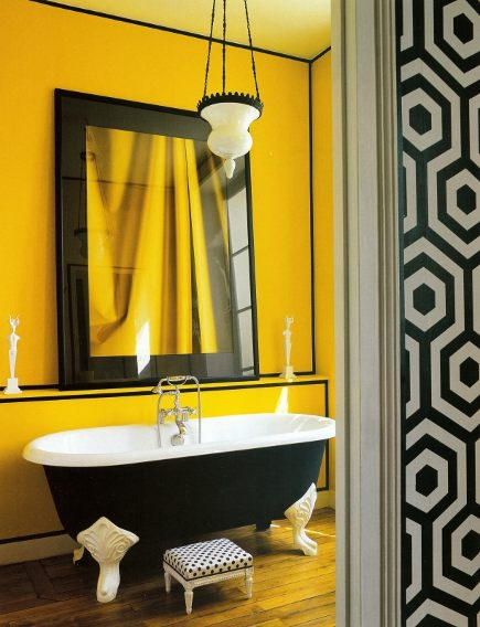 37 Sunny Yellow Bathroom Design Ideas