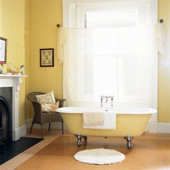 37 sunny yellow bathroom design ideas digsdigs. Black Bedroom Furniture Sets. Home Design Ideas