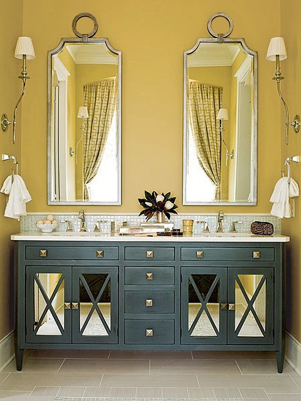 37 sunny yellow bathroom design ideas digsdigs - Decorating with mustard yellow ...