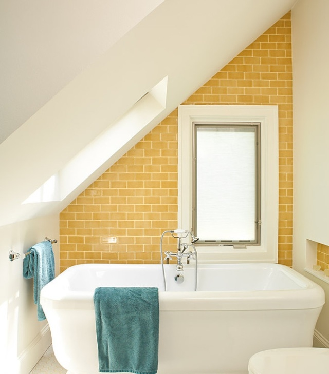 37 sunny yellow bathroom design ideas digsdigs Bathroom design ideas colors