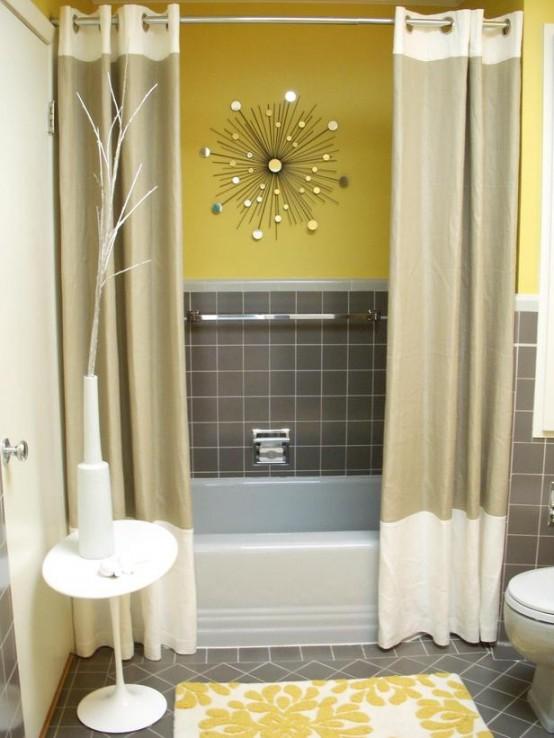 Amazing Yellow Bathroom Designs